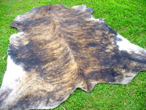 Cowhide Skin brindle Rug