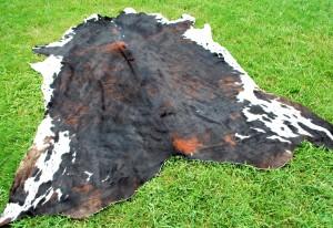 Cowhide Dark Tricolor