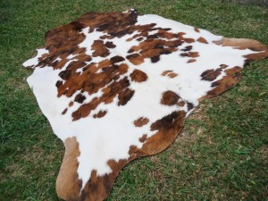 New Cow hide Skin Cowhide Solid Tricolor