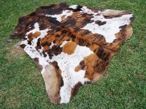 Cowhide Skin Rug Brindle Tricolor