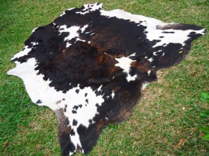 Cowhide 50% Brown White