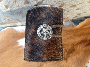 New Cowhide Bottle / Can Coozie - Brown