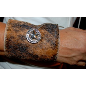 New Cowhide Bottle / Can Coozie Brindle