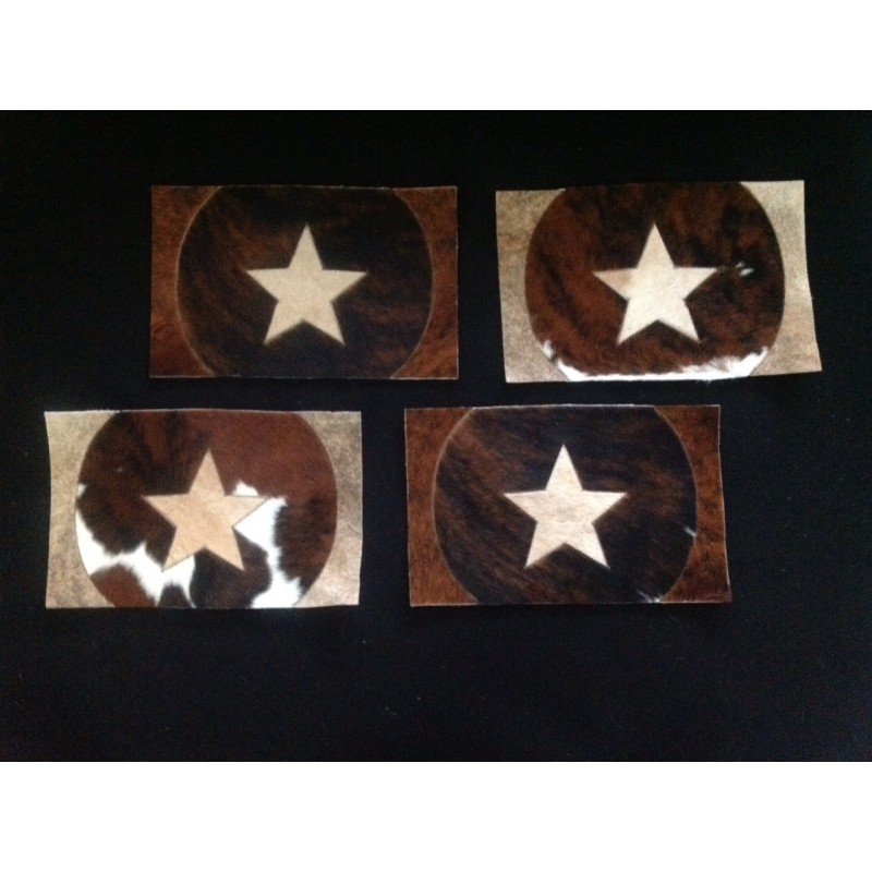 Brown Cowhide Placemats