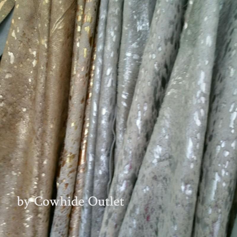 Acid Wash Gold XL Cowhide Rug For Sale