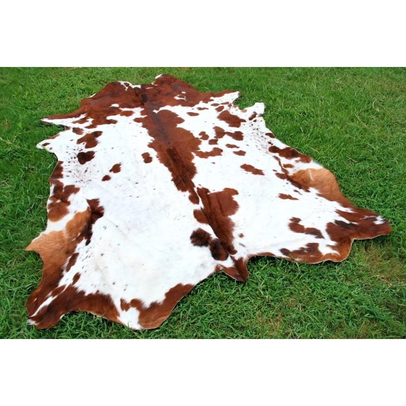 Brown Longhorn Style Cowhide Rug For