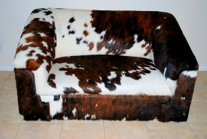Cowhide Sofa Tricolor Western Living