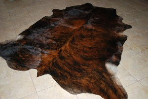Cowhide black brindle