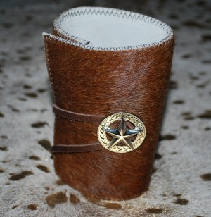 New Cowhide Bottle / Can Coozie