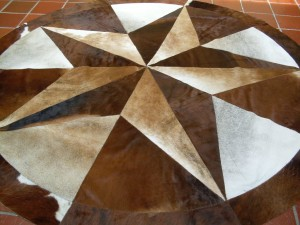 Cowhide Star 8 FT Brindle #2