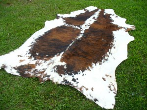 Tricolor Speckled Medium Cowhide Rug