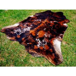 Cowhide Brown White Tricolor E