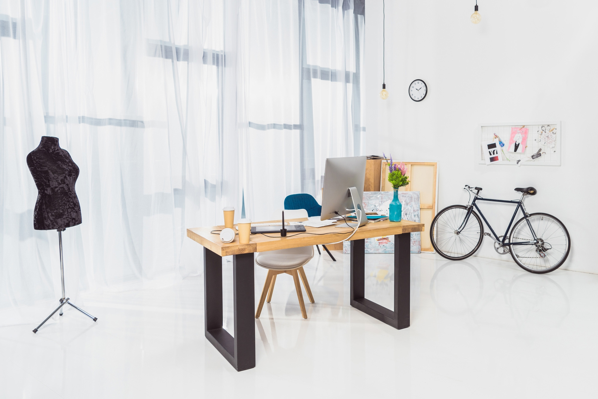 8 Tips For Creating An Inspirational Workspace Cowhide Rug